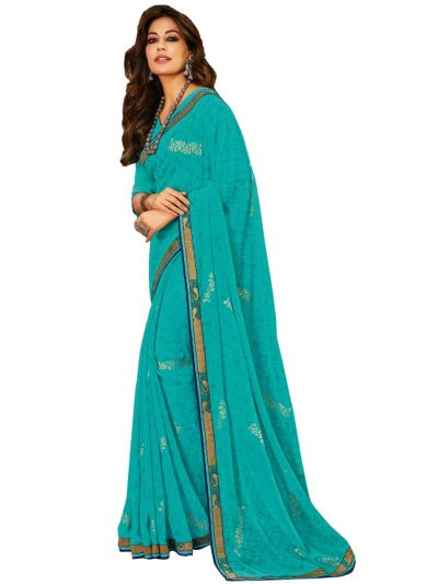 Women's Fancy Georgette Saree - WFS14980
