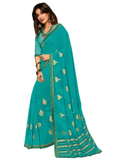 Women's Fancy Georgette Saree - MFB2224886