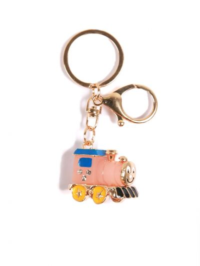Thomas and Friends  Pink Loco KeyChain With Peal Pink Color and  Gold metal Ring - KCC14