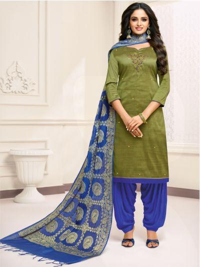 Isabella Women's Hand Work Cotton Dress Material