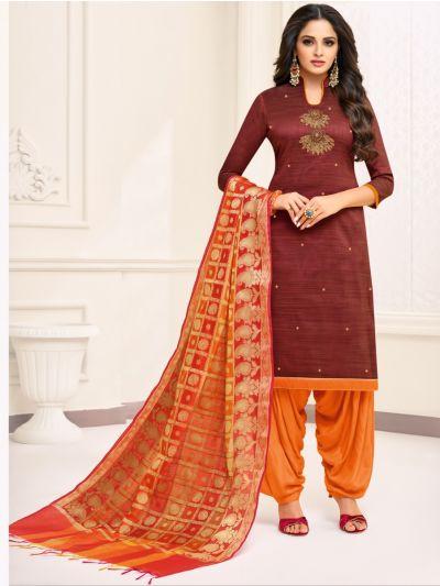 Isabella Women's Hand Work Cotton Dress Material -DMBS15007