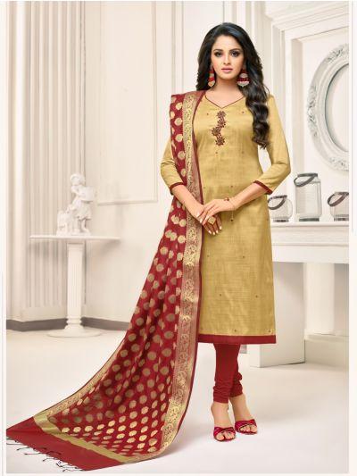 Isabella Women's Hand Work Cotton Dress Material -DMBS15012
