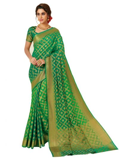 Kathana Fancy Semi Jute Saree-HNA1557