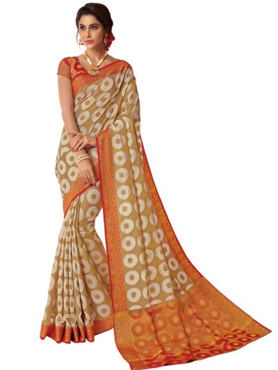Kathana Fancy Semi Jute Saree