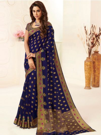 Kathana Fancy Semi Jute Saree-HNA1570