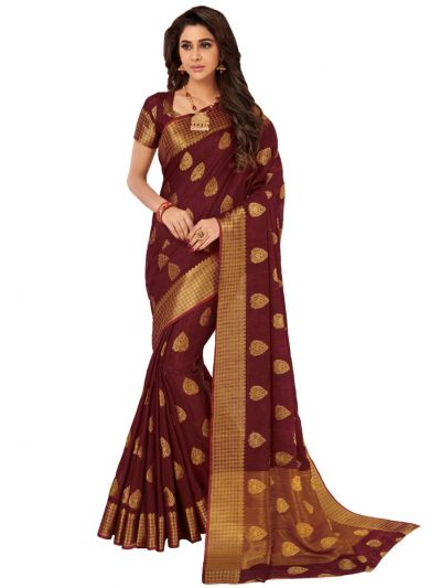 Kathana Fancy Semi Jute Saree - HNA1572
