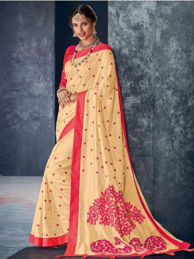 Kathana Fancy Raw Silk Embroidery Saree-KRFS4515