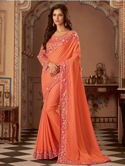 Sahithyam Designer Party Wear Satin Saree-PWS1604