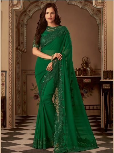 Sahithyam Designer Party Wear Satin Saree
