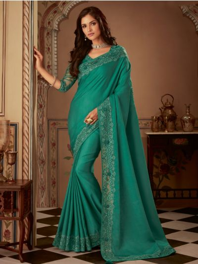 Sahithyam Designer Party Wear Satin Saree-PWS1609