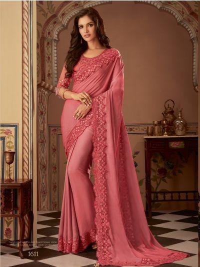 Sahithyam Designer Party Wear Satin Saree-PWS1611