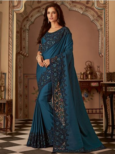 Sahithyam Designer Party Wear Satin Saree-PWS1613