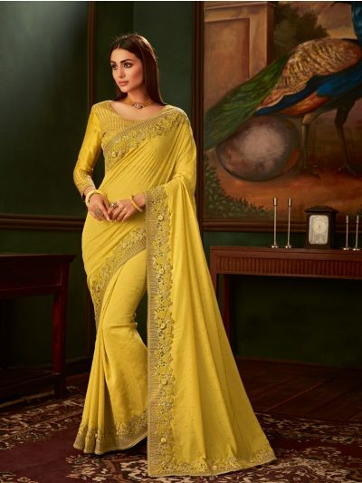 Sahithyam Exclusive Shimmer Chiffon With Border Work Saree