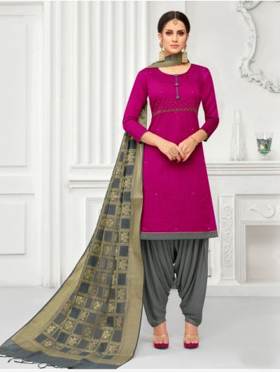 Isabella Women's South Silk Cotton Dress Material-MBC6640280