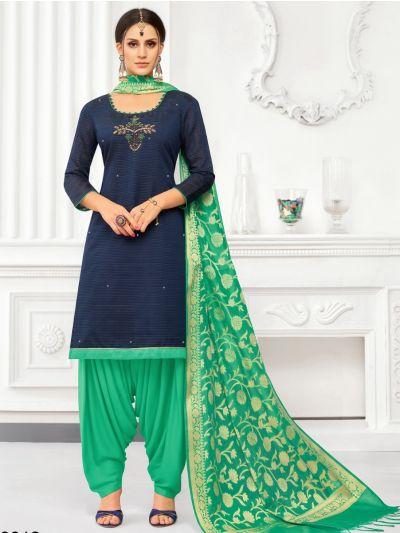Isabella Women's South Silk Cotton Dress Material-WDMB19012