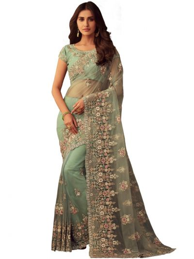 Sahithyam Exclusive Designer Full Netted Saree