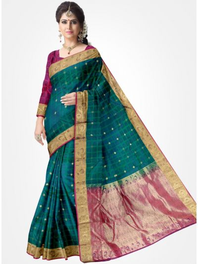 Green Color Traditional Silk Saree