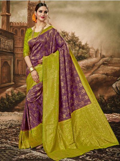 Khyathi Fancy Banarasi Semi Silk Saree