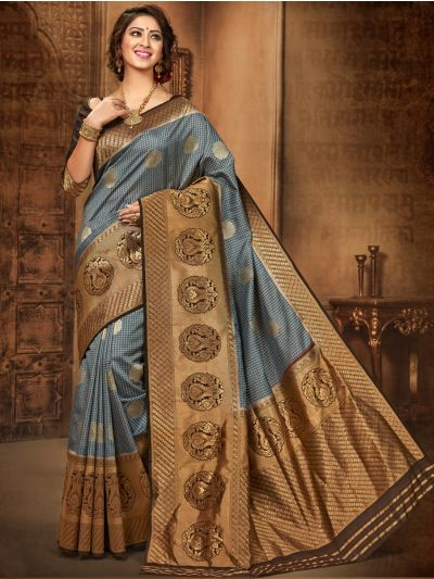 Khyathi Fancy Banarasi Semi Silk Saree