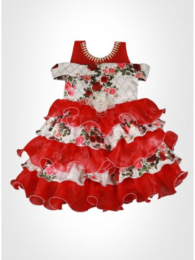 Red Color Fancy Frock