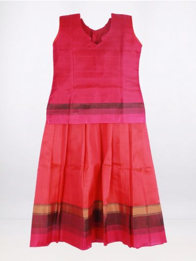 Fancy Art Silk Pattu Pavadai - Pink - ASPP2030