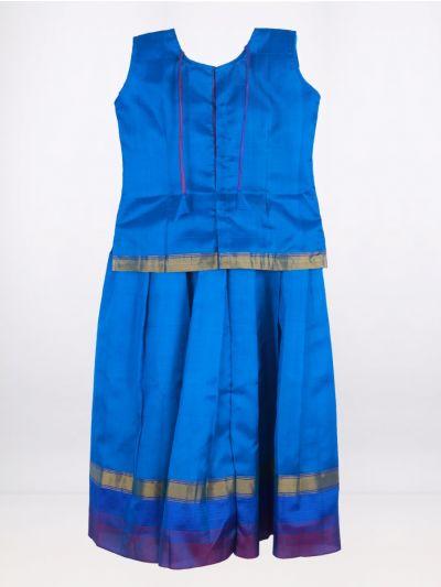 Fancy Art Silk Pattu Pavadai - Violet - ASPP2033