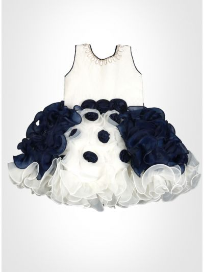 Navy and White Fancy Frock