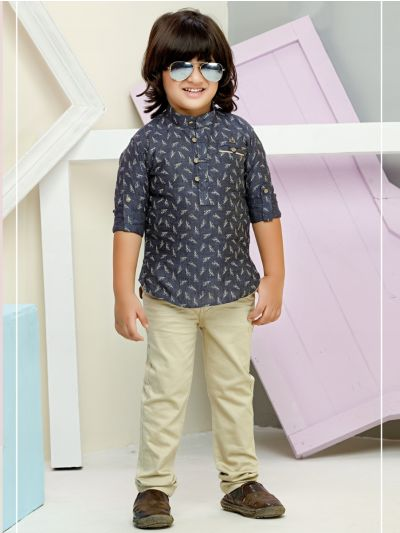 Boys Casual Shirts and Pant Set - BCS2154