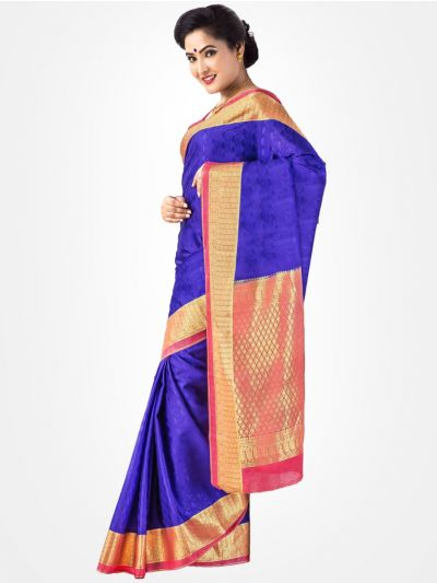 Blue Mysore Silk Saree