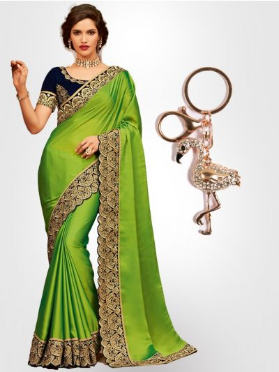 Chiffon Partywear  Saree with Imported Keychain - PWS2302K25