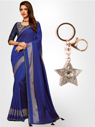 Chiffon Partywear  Saree with Imported Keychain - PWS2316K27