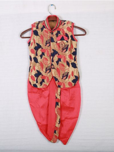 Hooks Sleeveless Kurtha and Dothi - Multi
