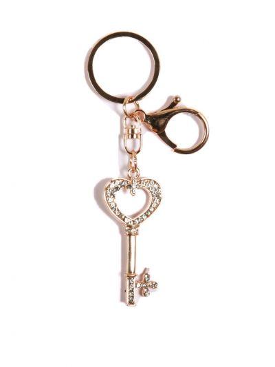 Keychain Heart Lovely Fashion Cute Crystal Pendent Key Chain-KCC024