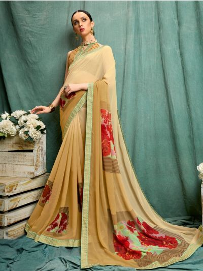 MIA2754847-Women's Fancy Printed Synthetic Saree