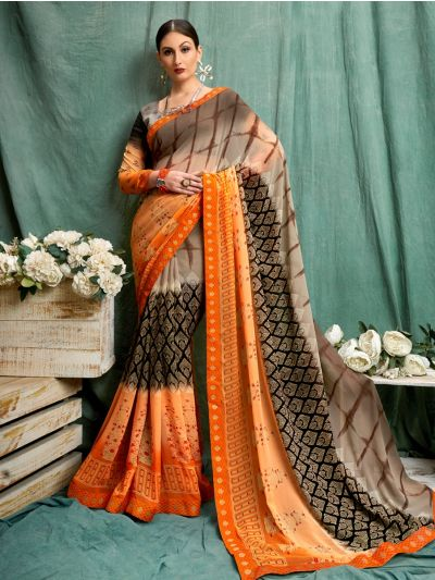 MIA2754843-Women's Fancy Printed Synthetic Saree