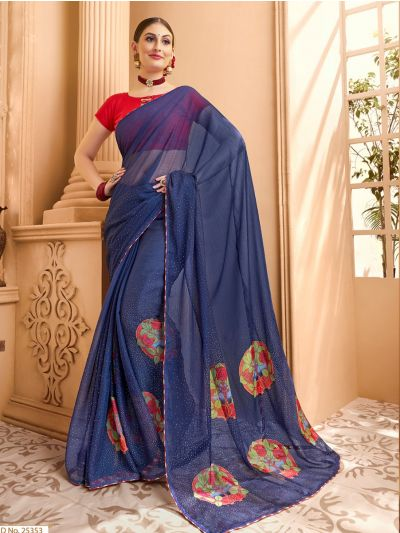 Women's Fancy Printed Chiffon Saree - MIA2754801