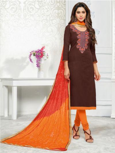 Isabella Women's Cotton Slub Dress Material-WCSDM3010
