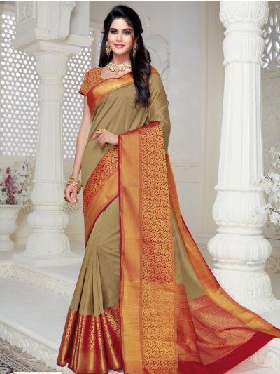 Kathana Fancy Semi Jute Saree