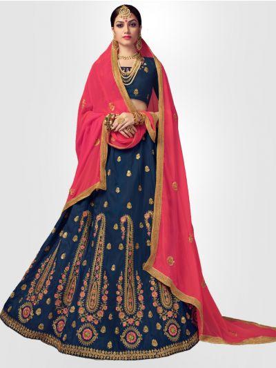 Women's Embroidered Semi-Stitched Lehenga Choli & Unstitched Blouse with Dupatta - FLC3121B