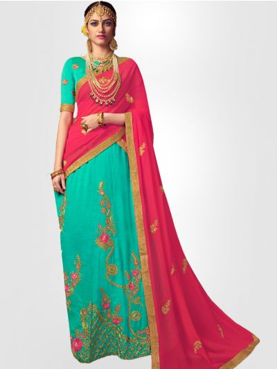 Women's Embroidered Semi-Stitched Lehenga Choli & Unstitched Blouse with Dupatta - FLC3125B