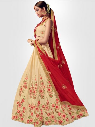 Women's Embroidered Semi-Stitched Lehenga Choli & Unstitched Blouse with Dupatta - FLC3126B
