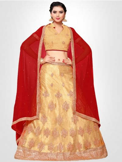 Women's Embroidered Semi-Stitched Lehenga Choli & Unstitched Blouse with Dupatta - FLC3150C