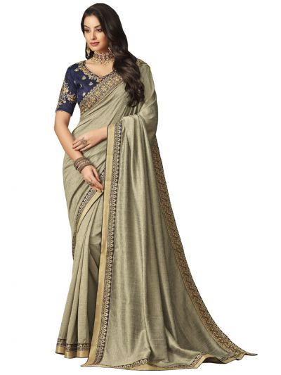 Elegance Party wear saree Grey - EPS3802