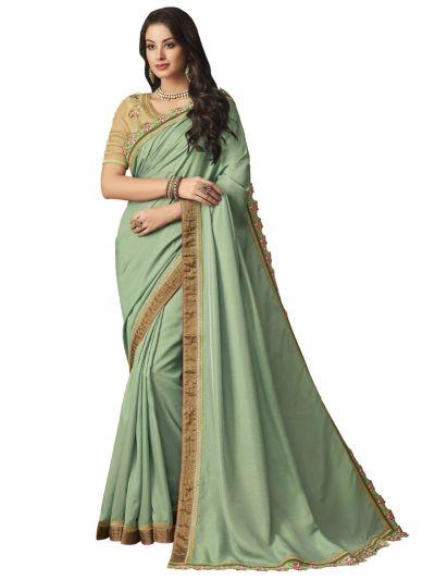 Elegance Party wear saree Green Celadon - EPS3804