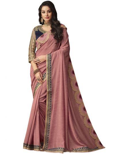 Elegance Party wear saree Rosebrown - EPS3807