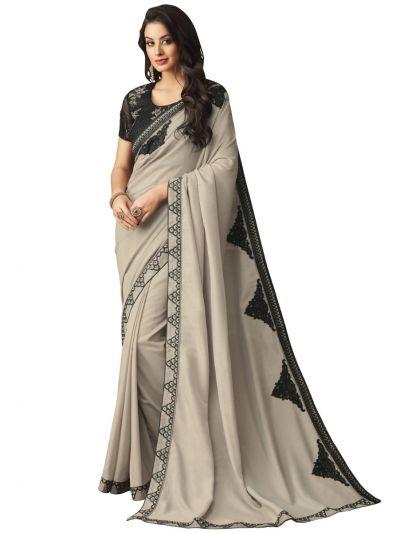 Elegance Party wear saree Grey - EPS3809