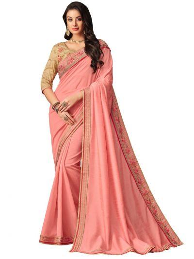 Elegance Party wear saree Peach - EPS3811