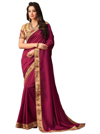 Elegance Party wear saree magenta - EPS3814