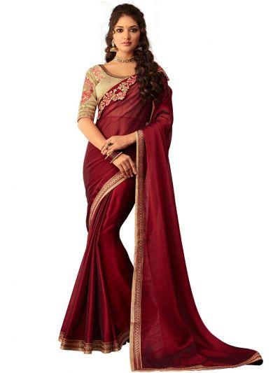 Kathana Exclusive Shimmer Chiffon Saree-MDD3137146