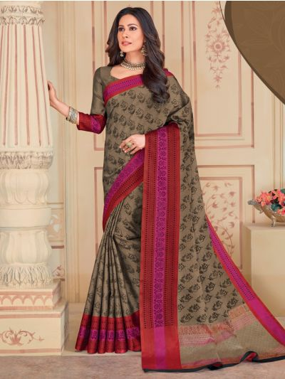 Kathana Fancy Weaving Raw Silk Saree - KSAY410